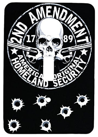 2nd Amendment Homeland Security Single Toggle Metal Metal Light Switch Cover