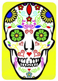 Single Toggle Metal Light Switch Cover with Sugar Skull Design