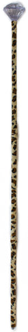 Costume Accessory Big Daddy Pimp Stick w/ Leopard Skin & Diamond Top