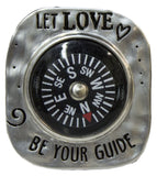 Let Love Be Your Guide Compass Pocket Charm With Story Card (Let Love)