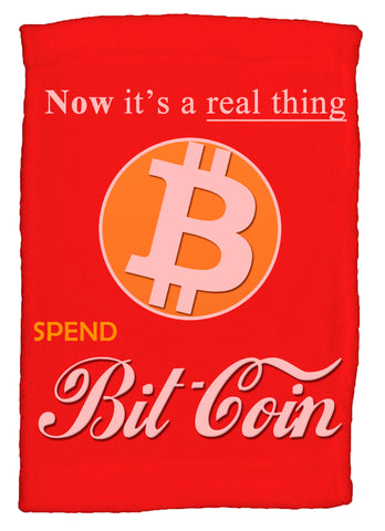 Bitcoin It's a Real Thing Super Soft 8 x 12 Inch Hand Towel