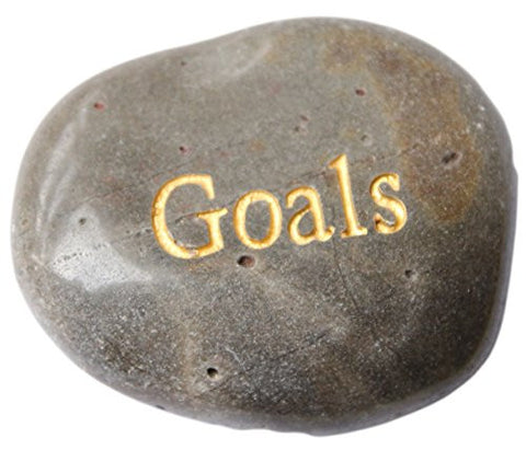 Inspirational Message Stones Engraved with Uplifting Words of Wisdom - Goals