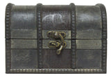Pirates Booty Grey & Black 4.5 Inch Wooden Chest w/ Acrylic Gemstones (Multi)