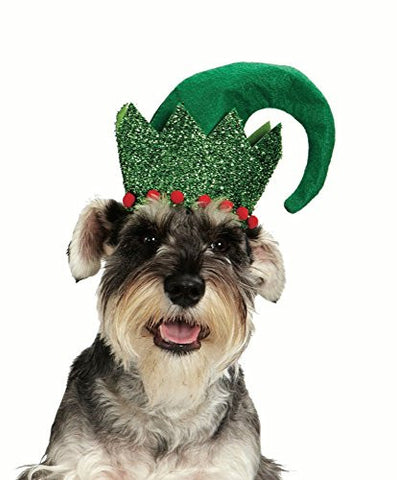 Christmas Costume Accessory for pet- Glitter Elf Dog hat