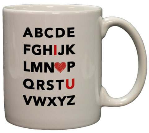 Adorable Alphabet I Heart U 11oz Coffee Mug