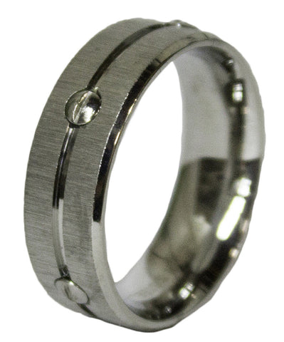 Men's Stainless Steel Band Dress Ring 061