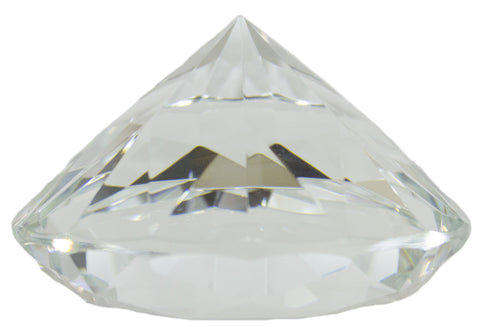 3.25 Inch Large Multifaceted Solitare Cut Jewel Paperweight