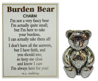 Burden Bear Zinc Pocket Charm w/ Story Card by Ganz