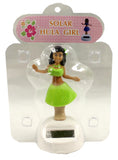 4 Inch Solar Powered Dancing Hula Girl, Green