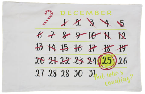Christmas Decoration - Countdown to Christmas Standard Size Pillow Case