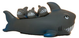 4 Piece Squeaking Shark Mom and Babies Bathtub/ Pool Play Set