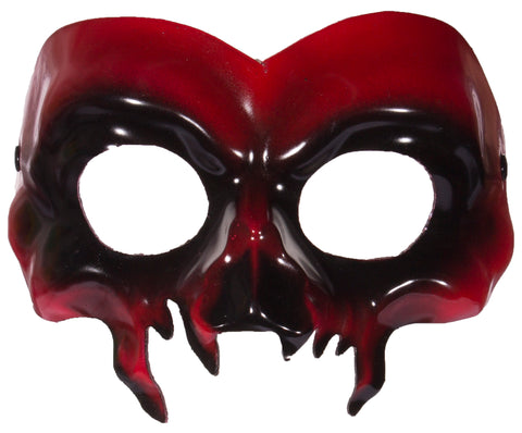 Costume accessory - Red Demon Half Mask w/ Ribbon Ties