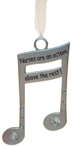 3 Inch Music Lover's Life Is Music Zinc Ornament - Nurses