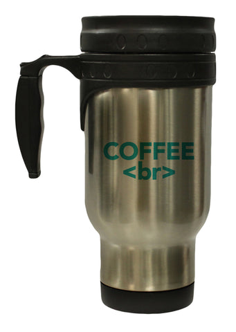 Coffee Break Funny HTML Humor 12 oz Hot/ Cold Travel Mug
