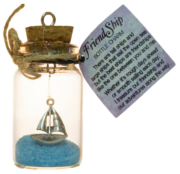 2.5 Inch FriendShip Bottle Charm Keepsake Gift for a Friend