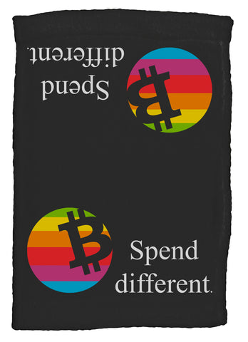 Bitcoin Spend Different Super Soft 8 x 12 Inch Hand Towel