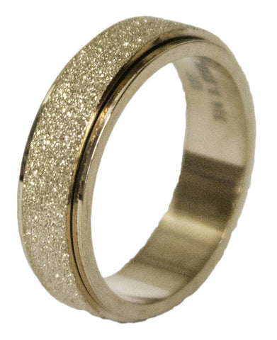 Women's Stainless Steel Dress Ring Gold Tone Worry Band 054