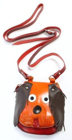 Handmade Genuine Leather Puppy Purse with Adjustable Shoulder Strap