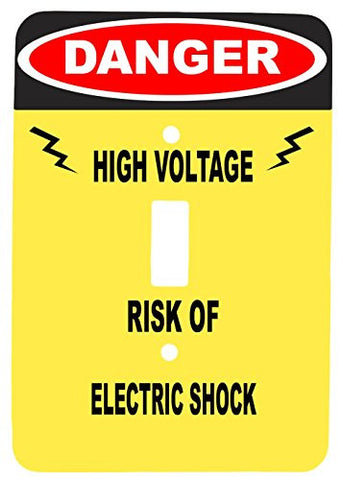 Danger High Voltage Funny Single Toggle Metal Metal Light Switch Cover