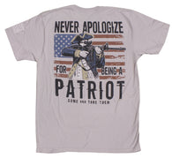 """Never Apologize for Being A Patriot"" Men's T-Shirt"