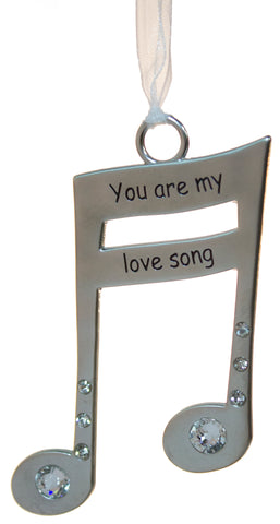 3 Inch Music Lover's Life Is Music Zinc Ornament - You Are My Love Song