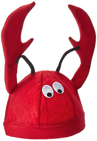 Jacobson Hat Company Men's Felt Lobster Hat, Red, Adult
