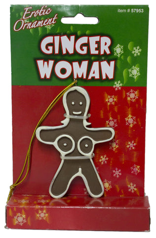 Forum Novelties 3 Inch Ginger Woman Adult Novelty Christmas Ornament