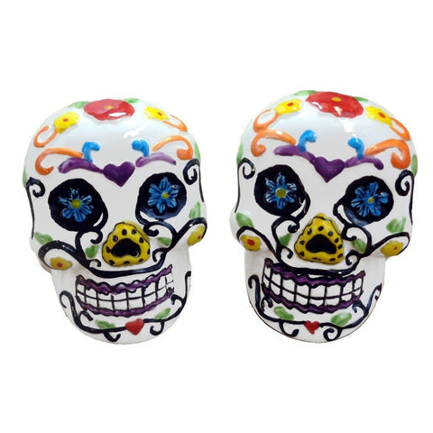 Day of the Dead Skull Salt and Pepper Shakers