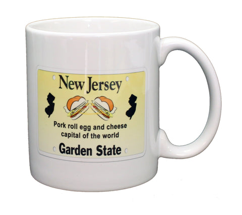 New Jersey License Plate Pork Roll Egg and Cheese Capital of the World Mug