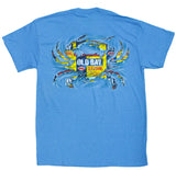 Old Bay Ripped Crab T-Shirt Seafood Seasoning Spice Rub Crab, Blue