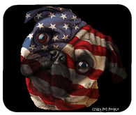 Dog Lovers Patriotic Pug High Quality Mouse Pad