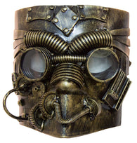 Costume Accessory - Antiqued Steampunk Mask w/ Built in Goggles