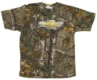Buck Wear Men's Distressed Chevy Chevrolet Real Tree Camoflauge T-Shirt