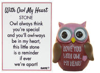 With Owl My Heart Owl Pocket Stone With Story Card (Owl My Heart)