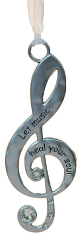 3 Inch Music Lover's Life Is Music Zinc Ornament - Heal Your Soul