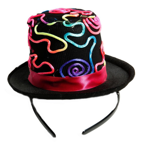 Jacobson Hat Company Ladies Multi Colored Neon String 3.5 Inch Top Hat Headband