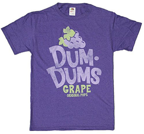 Men's Retro Style Dum Dums Original Pops Grape Flavor T-Shirt
