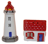 Ceramic Lighthouse with House Salt & Pepper Shakers