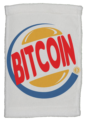 Funny Bitcoin King Burger Parody Super Soft 8x12 Inch Hand Towel