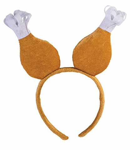 Forum Men's Novelty Turkey Drumstick Headband, Multi, One Size