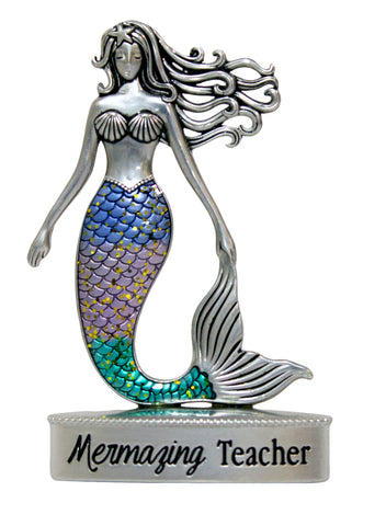 2 Inch Mermaid Figurine W/ Colorful Enamel - Mermazing Teacher