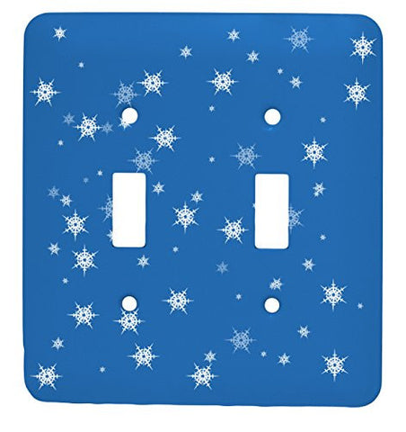Snow Flake Christmas Single Toggle Holiday Metal Light Switch Cover