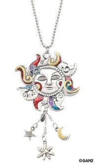 1 X Celestial Sun Hand-Painted Car Charm Ornament