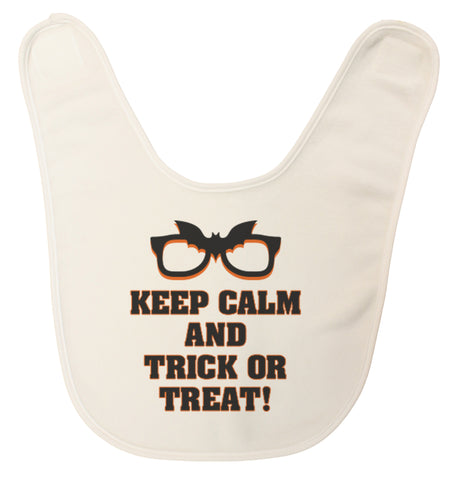 "Unisex-Baby ""Keep Calm and Trick or Treat"" Ultra Soft Baby Bib Made in USA"