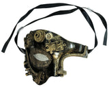 Steampunk Gold Phantom Half Plaster Mask (75991)
