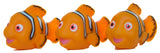 4 Piece Squeaking Clownfish Mom and Babies Bathtub/ Pool Play Set