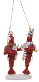Nautical Christmas Decoration Funny Caroling Lobsters Ornament