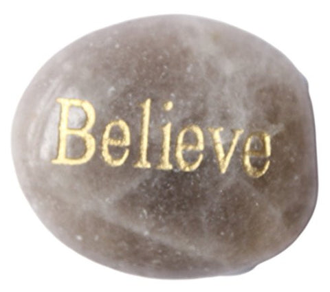 Inspirational Message Stones Engraved with Uplifting Words of Wisdom - Believe