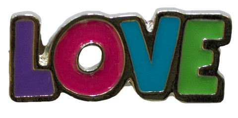 Hat Lapel Flair Tie Metal Pin With Colorful Enamel -Love