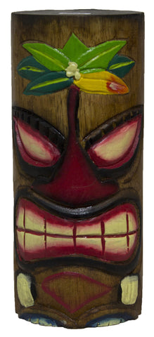 8 Inch Tall Hand Carved Tiki Wood Totem Pole (Palm2)